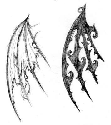 angel wings tattoo design. Angel Wing Tattoo Designs