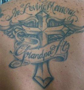Cross Angel Wing Tattoo Cross 24 Dainty Small Angel Wing Tattoos