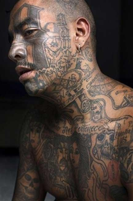 gangsta style tattoos | Cross Tattoos Pictures